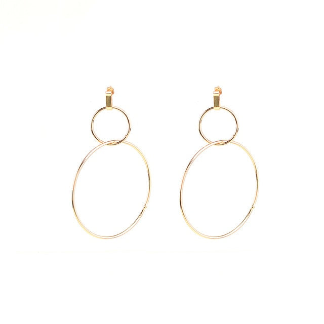 Cecily Big Hoop Earrings In Gold - Mad Jade