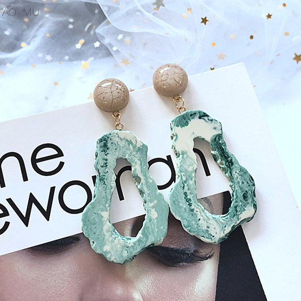 Barbara Marble Look Acrylic Earrings - Mad Jade