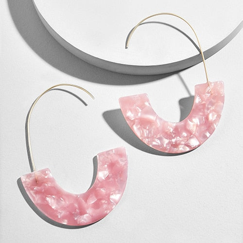Vicky Statement Print Drop Earrings - Mad Jade