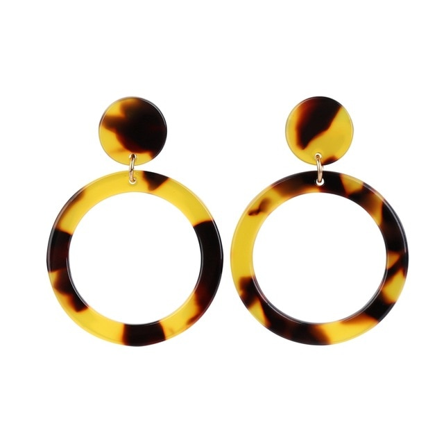Nancy Leopard Print Hoop Earrings For Women - Mad Jade