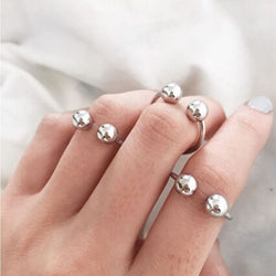 Finley Adjustable Size Ball Rings