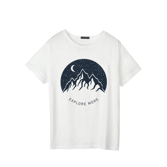 Carrie Traveller's White Graphic T Shirt - Mad Jade