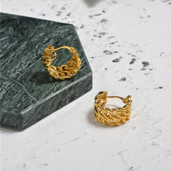 Perry Small Twisted Hoop Earrings In Gold - Mad Jade