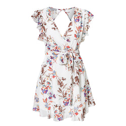Bella Floral Summer Dress With Ruffles