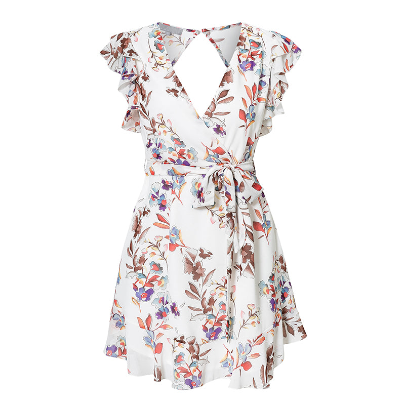 Bella Floral Summer Dress With Ruffles - Mad Jade