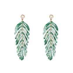 Lola Resin Dangle Earrings - Mad Jade