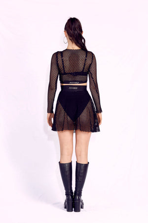 BAD B*TCH FISHNET SKIRT