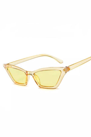 YELLOW VINTAGE SUNGLASSES