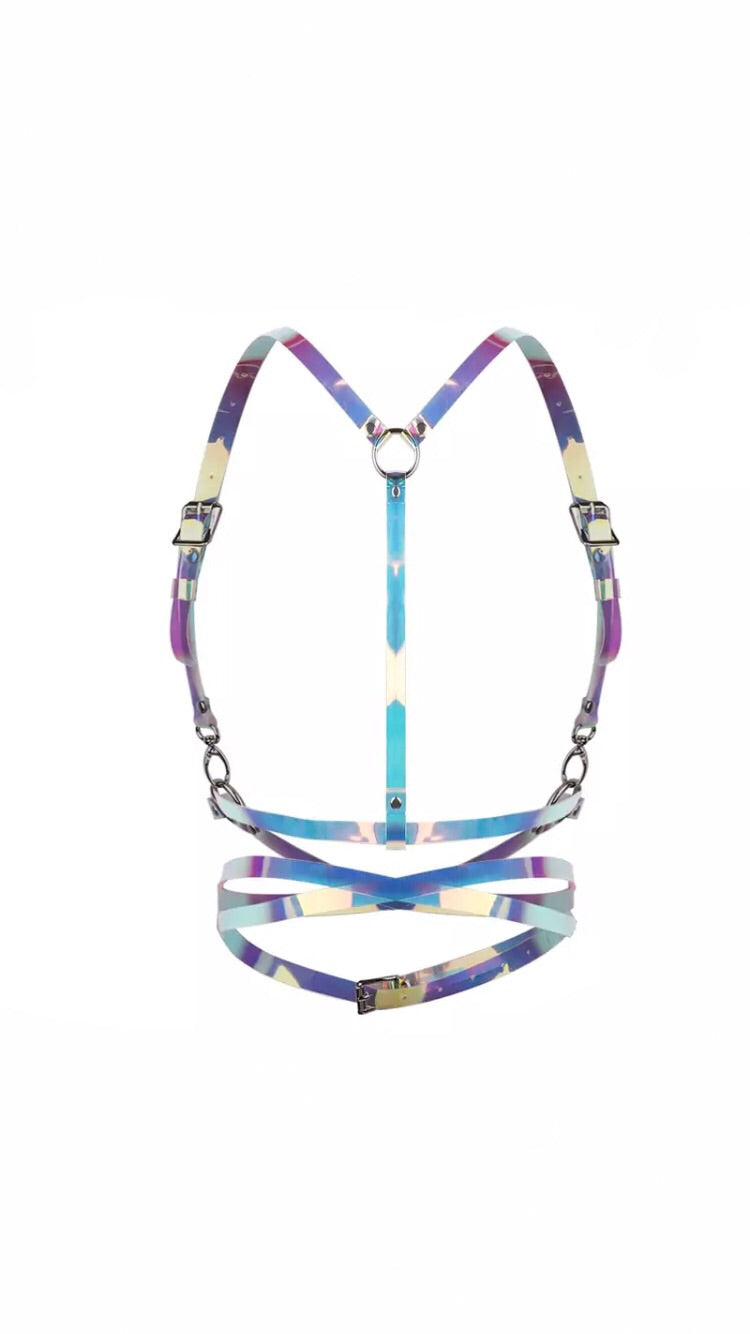IRIDESCENT WRAP AROUND HARNESS
