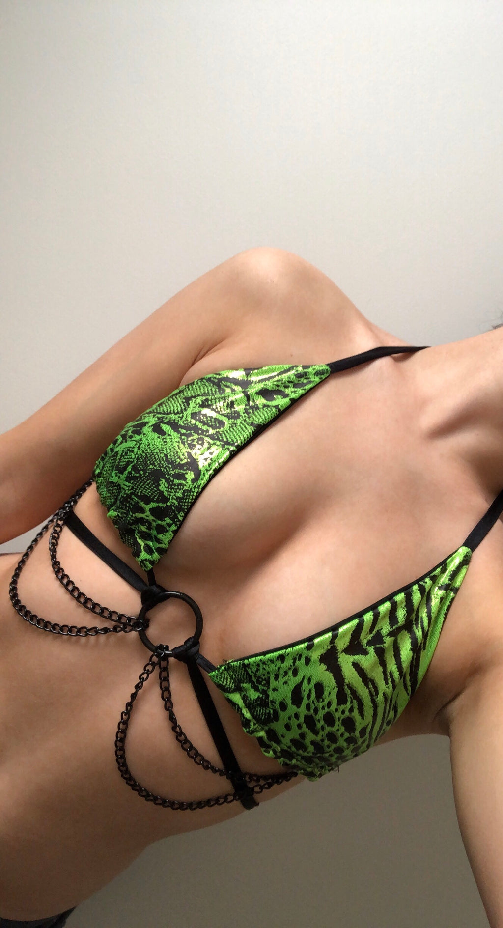 WILDLIFE CHAIN BRALETTE