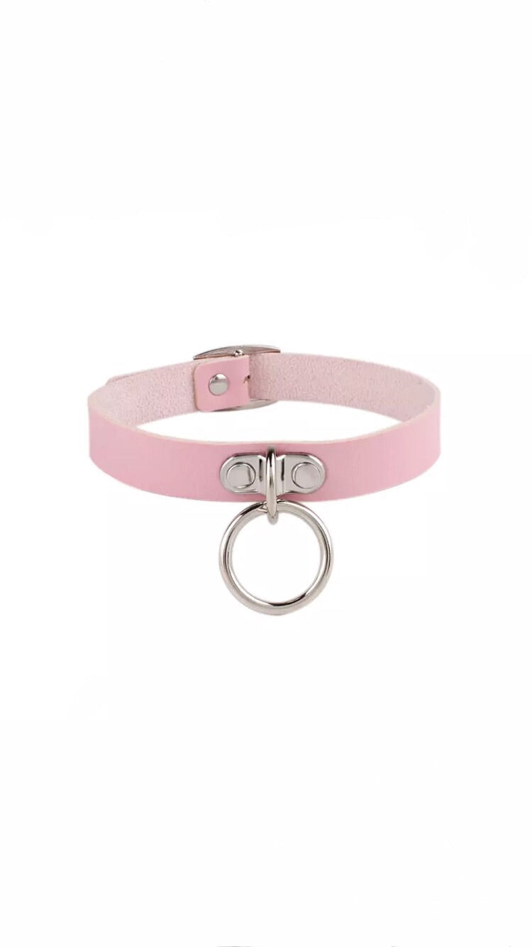 BABY PINK RING CHOKER (PRE ORDER)