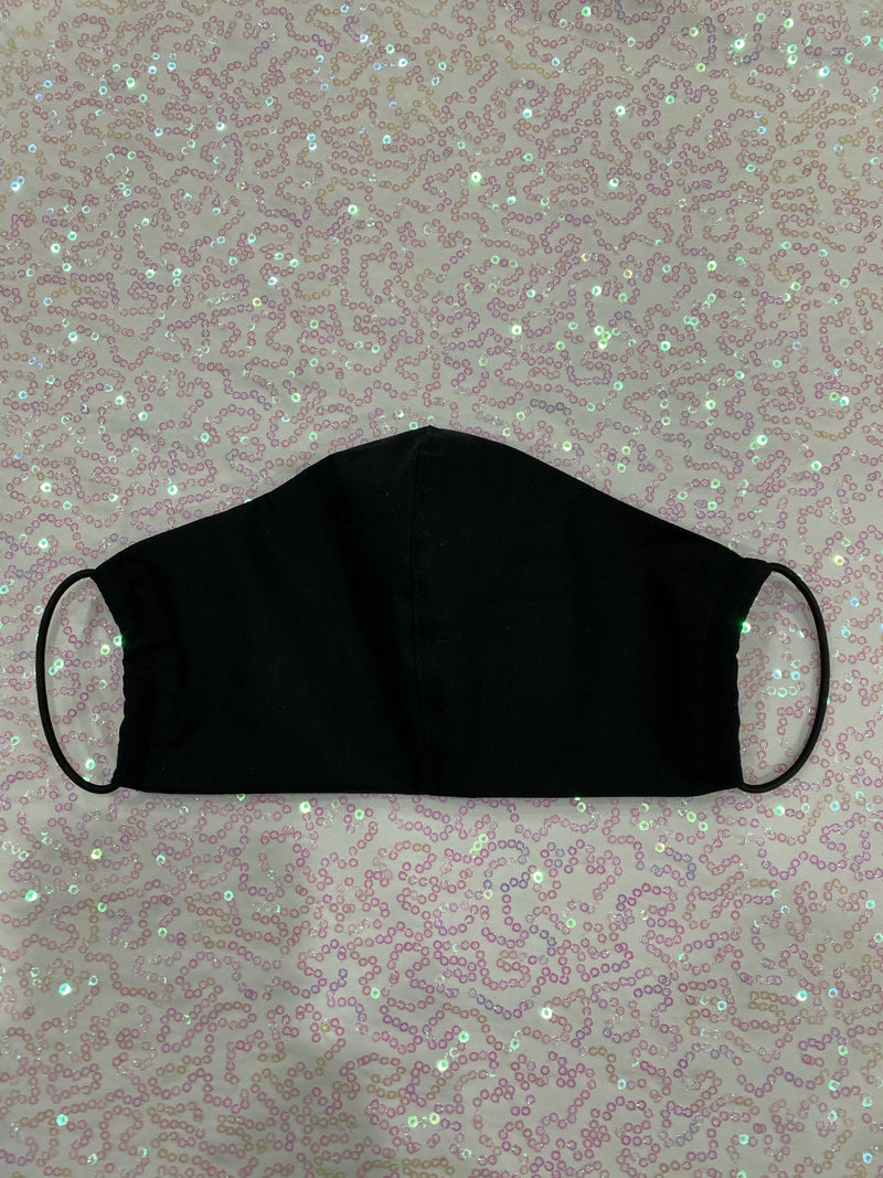 BLACK MASK - PLAIN (5 PACK)
