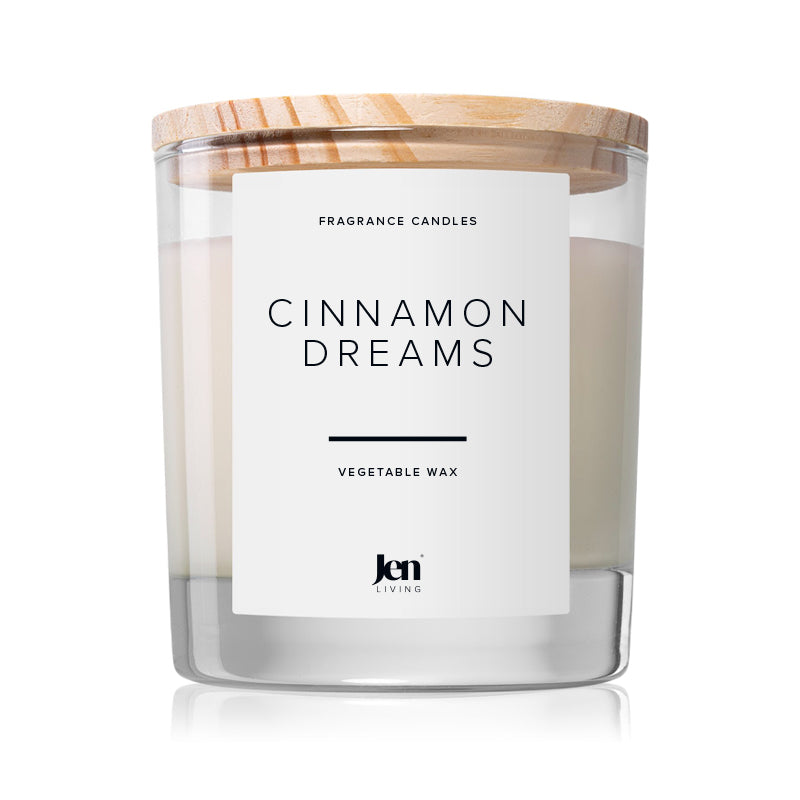 JenLiving® CINNAMON DREAMS Fragrance Candle