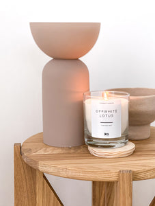 JenLiving® OFFWHITE LOTUS Fragrance Candle