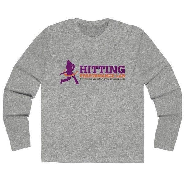 Men's Long Sleeve Hitting Performance Lab Logo T-Shirt