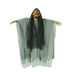 Hanging Ghost Halloween Decorations Novelty Electric Scary Skeleton