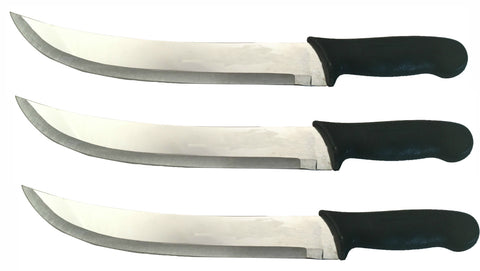 3  - 12 in. Black Cimiter Knives - Rental Knives