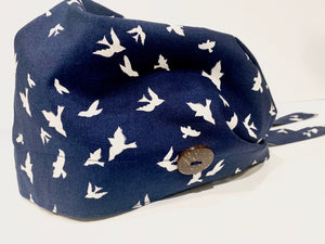 Nurse cap- fly away/navy