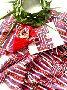 PRE ORDER Organic swaddle- Hawaiian flag