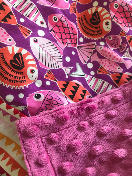 Travel Baby Blanket- Schools Out
