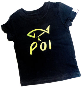 Fish & Poi BOYS tee-black