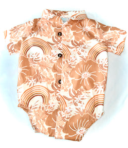 New Vintage Aloha shirt Onesie-rainbow