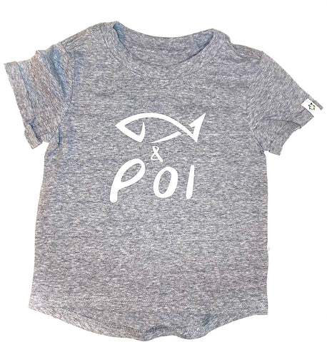 Fish & Poi BOYS tee-grey
