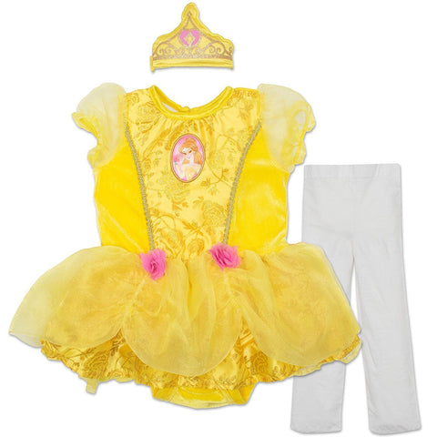 719ae7a320c7d Disney Princess Belle Baby Girls' Costume Tutu Dress, Headband and Tights