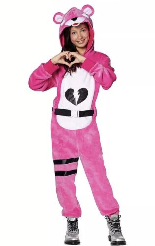 Halloween Costume 398.Girls Fortnite Cuddle Team Leader Plush Halloween Costume Medium Large 8 12