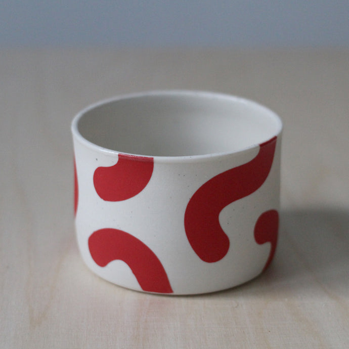 Red Noodle Planter w/ Hole