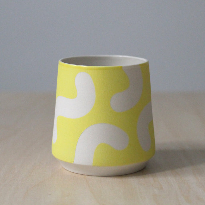 Solid Yellow Angled Noodle Cup