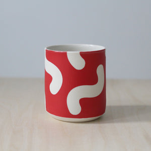 Solid Red Noodle Cup
