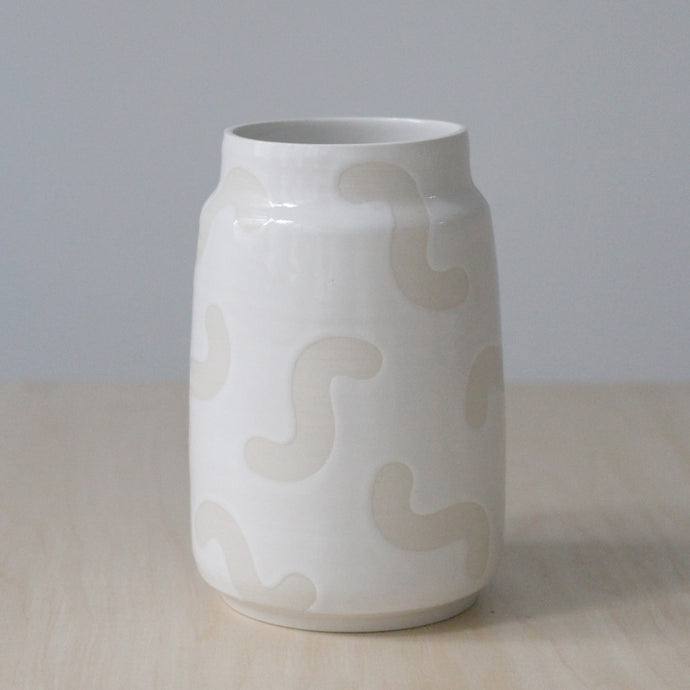 Large White Noodle Vase