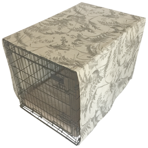 The Uppity Puppy Bird Toile Fossil Designer Dog Crate Cover - The Uppity Puppy