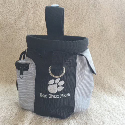 Dog Treat Bag, Obedience, Agility, Bait Training Waterproof Pouch - The Uppity Puppy