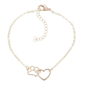 Linked Heart & Paw Bracelet - The Uppity Puppy