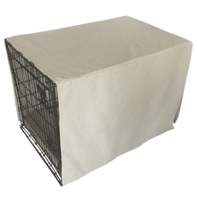 The Uppity Puppy Linen Beige Solid Designer Dog Crate Cover - The Uppity Puppy