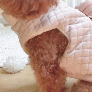 Pink Quilted Winter Dog Jacket