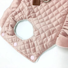 Quilted Winter Ruffled Dog Dress, Pink or Beige - The Uppity Puppy