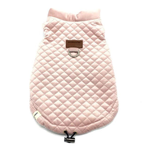 Quilted Winter Dog Coat, Pink or Beige - The Uppity Puppy