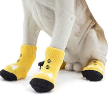 Yellow Non-Slip Socks for Small Dogs - The Uppity Puppy