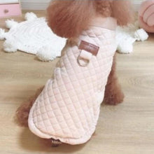 Quilted Winter Dog Jacket, Pink or Beige