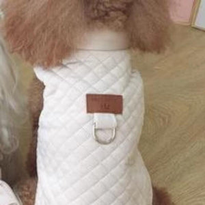 Beige Quilted Winter Dog Jacket