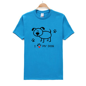 """I Love My Dog"" Cotton T-Shirt - The Uppity Puppy"