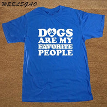 """Dogs Are My Favorite People"" Cotton T-Shirt - The Uppity Puppy"