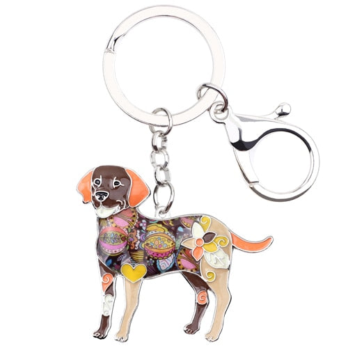 Enamel Labrador Retriever Key Chain or Bag Chain - The Uppity Puppy