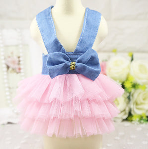 Summer Dog Sundress with Tulle Skirt in 5 Colors - The Uppity Puppy
