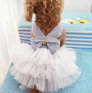 Dog Sundress with Tulle Skirt in 5 Colors - The Uppity Puppy
