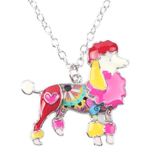 Enamel Poodle Pendant Necklace - The Uppity Puppy