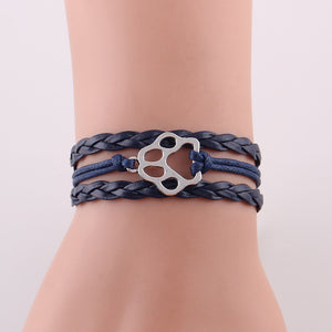 Dog Paw Leather Bracelet - The Uppity Puppy